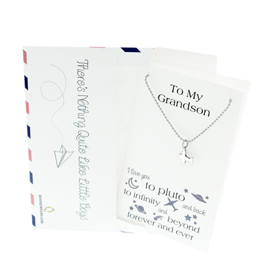 Tom Happy Birthday Cards Airplane Necklace Gifts for