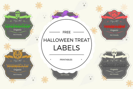 Free Halloween Treat Label Printables - Quan Jewelry