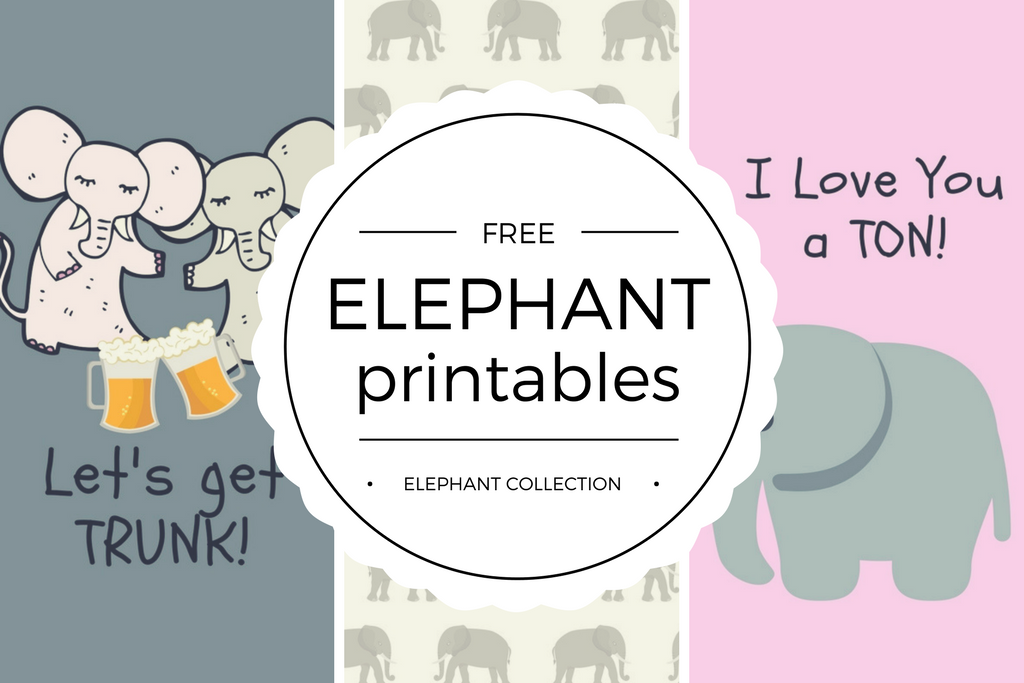 Free Elephant Day Printables