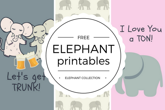 Free Elephant Day Printables - Quan Jewelry