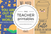 Free Printable Teacher Appreciation Thank You Cards - Quan Jewelry