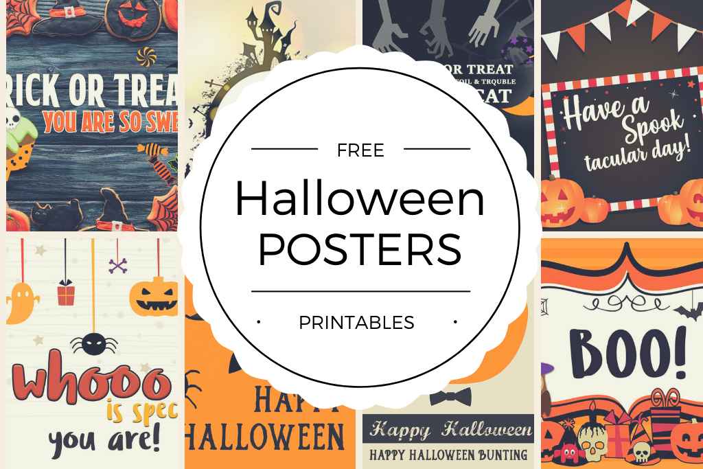 Free Halloween Mini Posters Printables