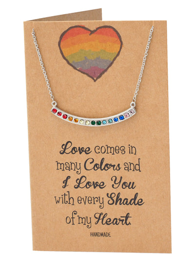 Rossana Swarovski Rainbow Pendant Necklace