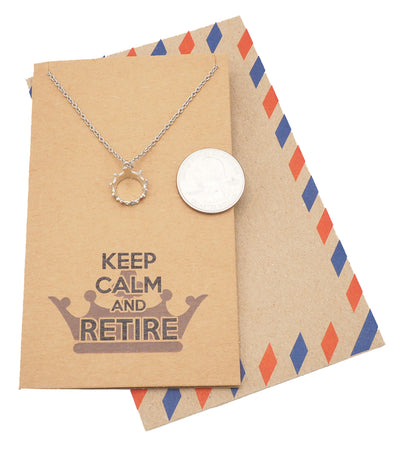 Keep Calm and Retire Jewelry Greeting Card