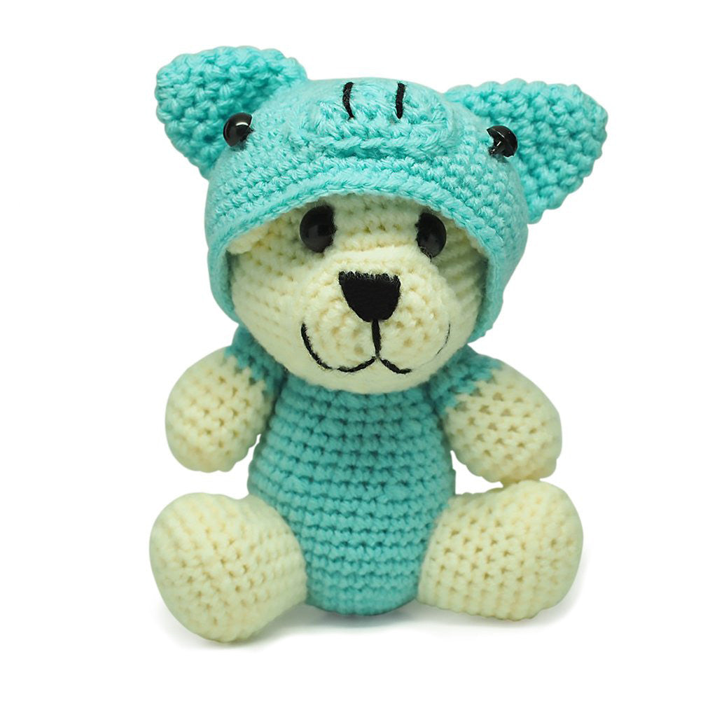 Rex Piggy Crochet Teddy Bear, Handmade Teddy Bears - Quan Jewelry