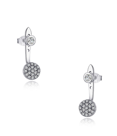 Brenna Rhodium Plating Round Charm Earrings