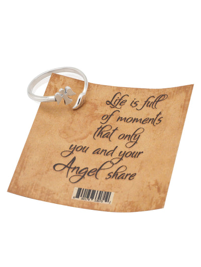 Alliyah Ring In A Glass Bottle, Angel Ring, Inspirational Gifts for Women