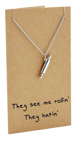 Rachel Chef Jewelry with Rolling Pin Pendant, Funny Greeting Card,  - Quan Jewelry - 5