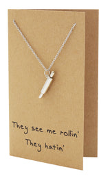 Rachel Chef Jewelry with Rolling Pin Pendant, Funny Greeting Card,  - Quan Jewelry - 6