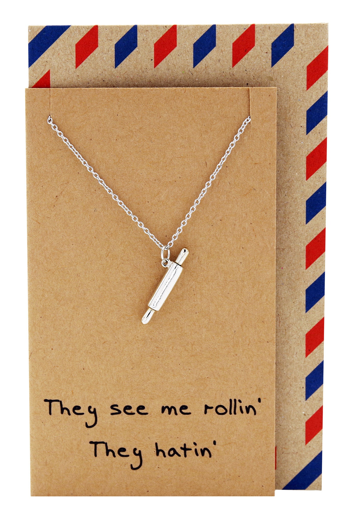 Rachel Chef Jewelry with Rolling Pin Pendant