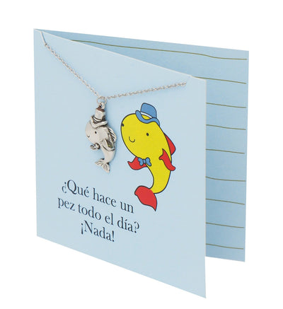 Safira Fish Necklace Funny Puns Spanish Birthday Cards - Quan Jewelry