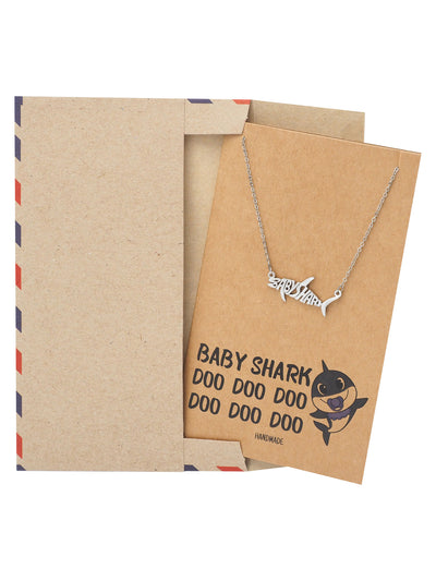 Mommy Shark Pendant Necklace Best Jewelry Gifts For Family