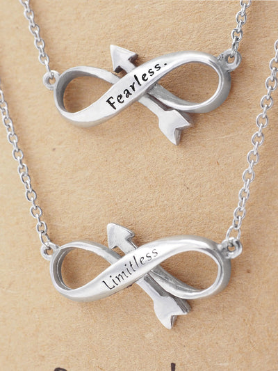 Raissa Sister Fearless Limitless Infinity Necklace
