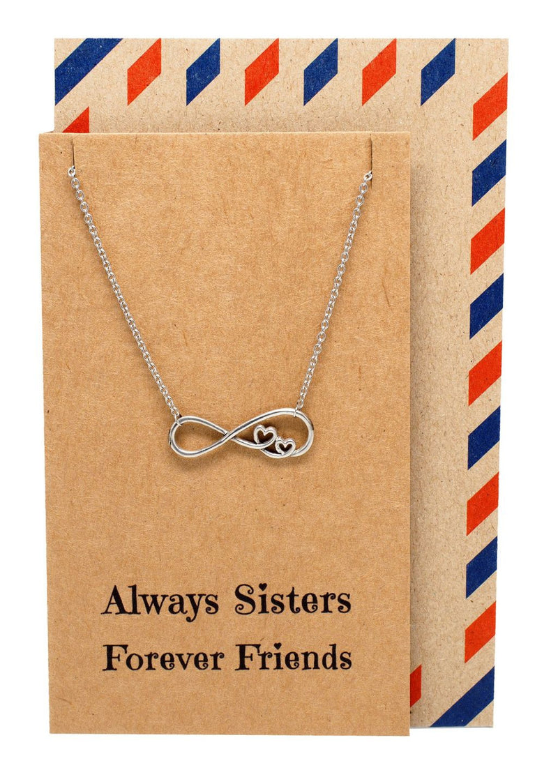 day mom gifts daughter necklace infinity mother charms jewelry pendant mothers friend personalized bling fancy