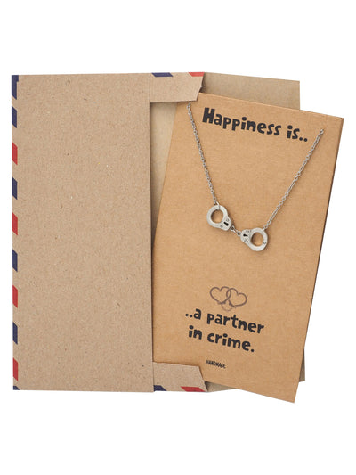 Flora Handcuff Necklace for Women, Best Friend Gifts, Gift for Women with Greeting Card - Quan Jewelry