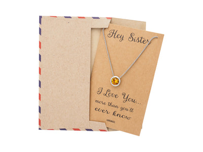 Gifts for Sister Quotes Jewelry Greeting Card