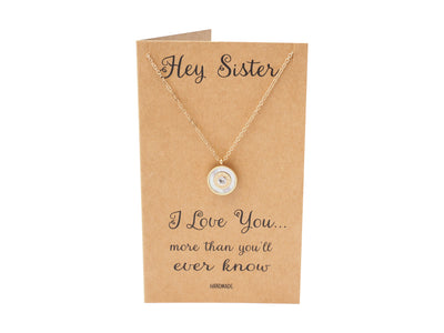 Haisley Sister Necklace with Swarovski Crystal