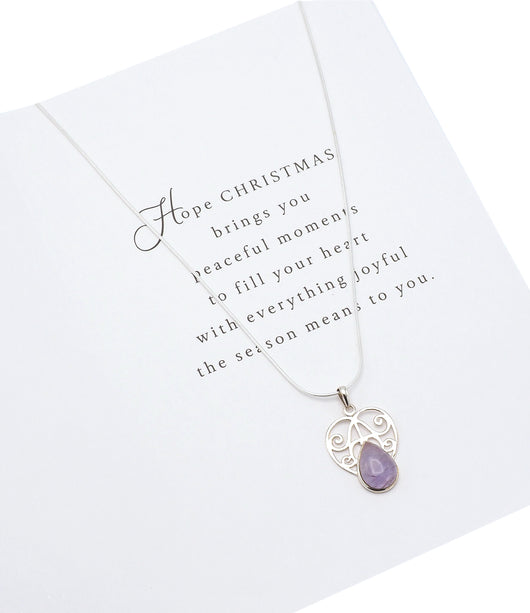 Lunox Sisters Gifts - Amethyst Necklace, Christmas Gifts For My Sister, 925 Sterling Silver