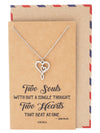Cynthia 2 Hearts Infinity Pendant Necklace Gift for Special Someone