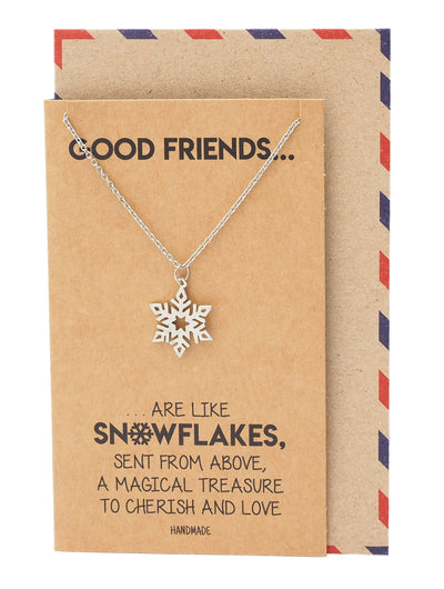 Aprille Snowflakes Charm Necklace, Gifts for Christmas, Birthdays and Party - Quan Jewelry