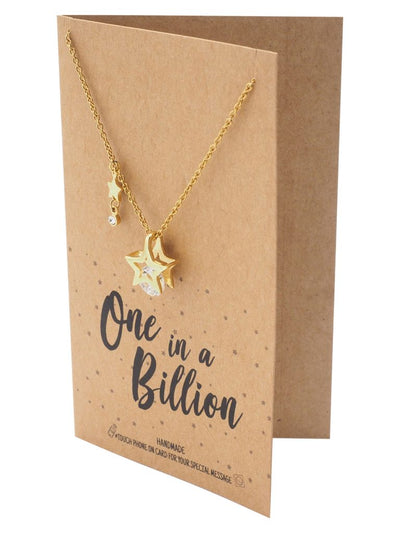 Shantal Stars and Diamonds Pendant Necklace
