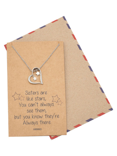 Sister Quotes Jewelry Greeting Card