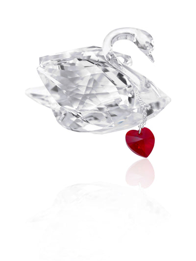 Mitzie Swarovski Crystal Heart Pendant Necklace for Women with Greeting Card