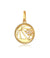 Nylah Sun and Tree Charm Necklace, Crowned Pendant Necklace, 18k Yellow Plated