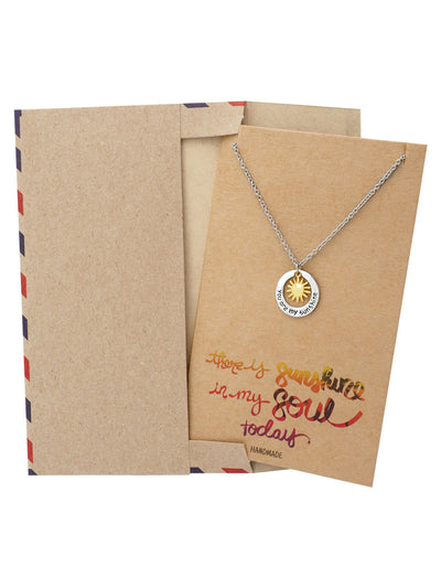 Liv You Are My Sunshine Necklace Engraved Gifts Jewelry Greeting Cards