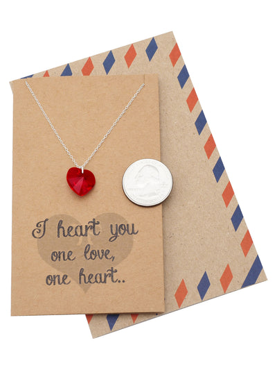 Necklace for Women with Greeting Card