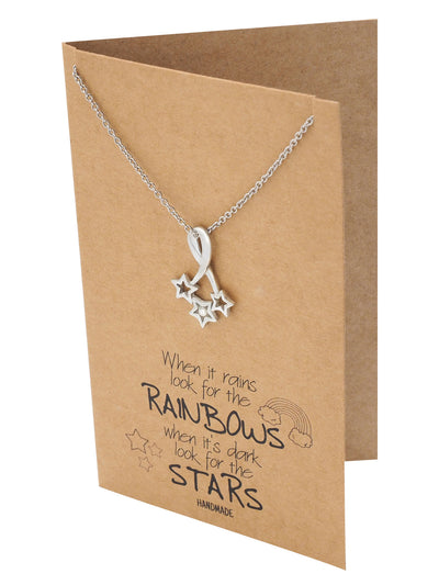 Rebecca Bright Stars Necklace with Inspirational Quote