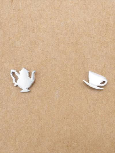 Alexa Teapot and Cup Earrings Gifts for Tea Lovers, Gifts for Women