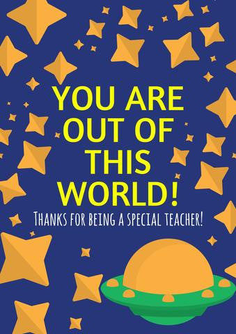 It is a picture of Free Printable Cards for Teachers in teacher's day
