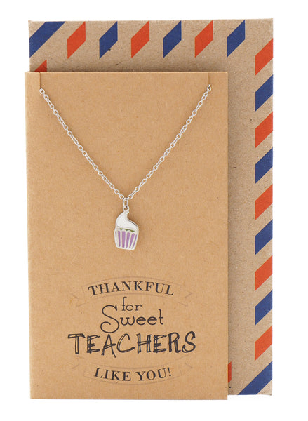 Candice Teacher Gifts, Cupcake Necklace and Thank You Cards