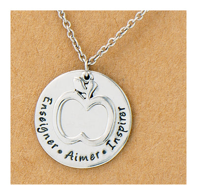 Enseigner. Aimer. Inspirer. Necklace and Greeting Card