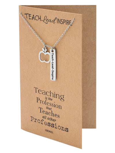 Lucia Teacher Quotes Gifts Inspirational Jewelry and Thank You Cards