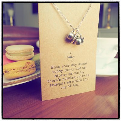 Tea Quotes Jewelry Gifts for Tea Lovers