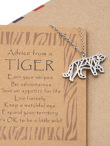 Beatrice Origami Tiger Necklace, Jewelry Gift for Women, Inspirational Gift with Greeting Card - Quan Jewelry