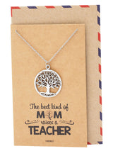 Hazel Tree of Life Necklace, Graduation Gifts - Quan Jewelry