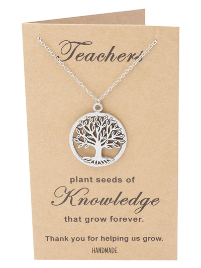 Mia Tree of Life Necklace with Thank You Cards