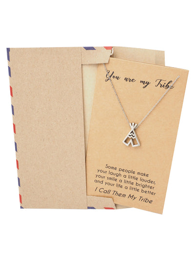 Ingrid Teepee Best Friend Necklace, Jewelry Gifts, Best Friend Gifts and Greeting Card - Quan Jewelry