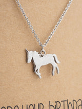 Emy Birthday Unicorn Necklace for Women, Animal Pendant with Greeting card - Quan Jewelry