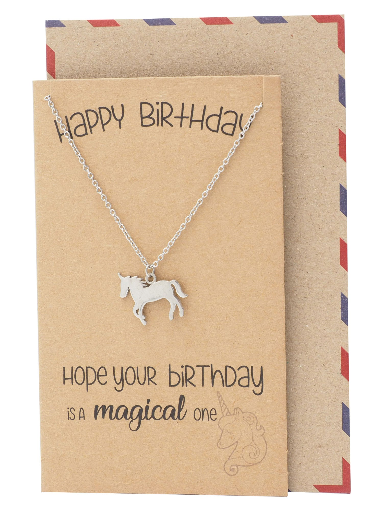 Emy Birthday Unicorn Necklace for Women