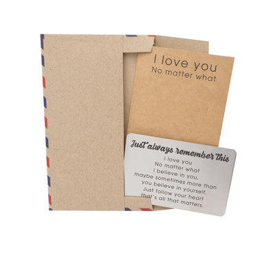 Helia Remember This Wallet Card, Inspirational Gifts for Special Someone