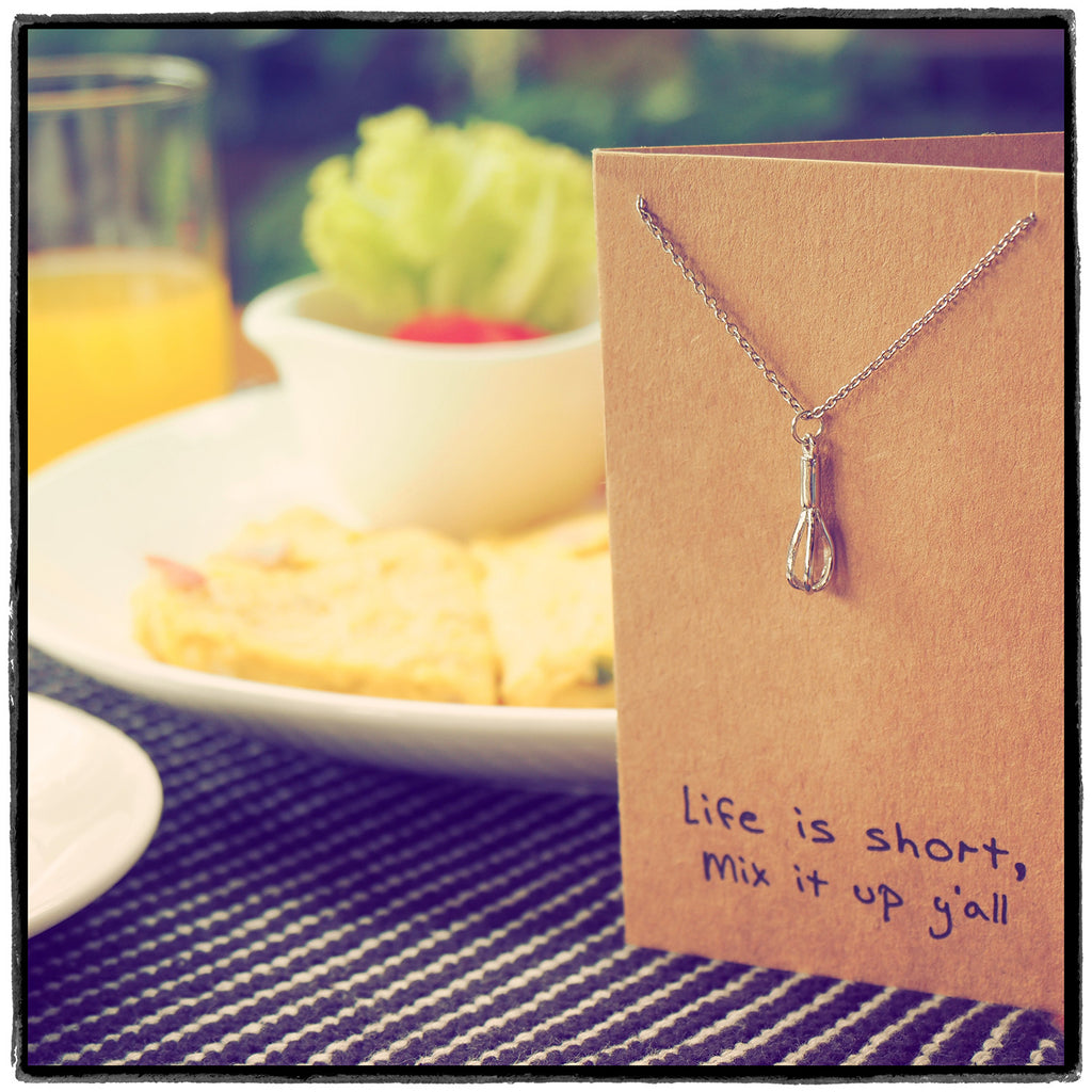 Paula Whisk Necklace Gift for Bakers,  - Quan Jewelry - 2