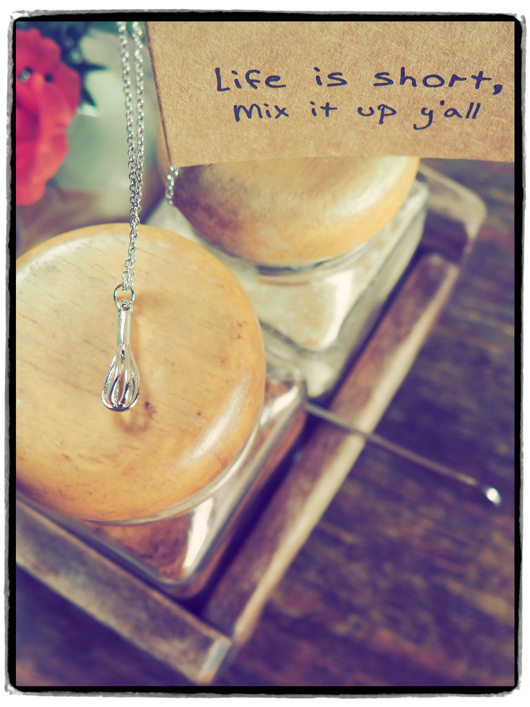 Paula Whisk Necklace Gift for Bakers,  - Quan Jewelry - 4