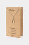 Dasha Good Luck Wishbone Necklace