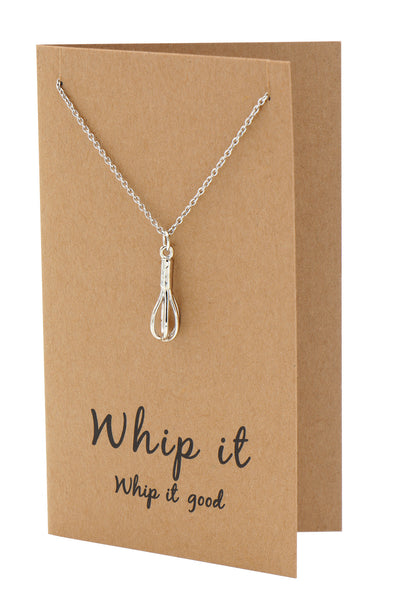 Nadja Whisk Necklace Gift for Bakers