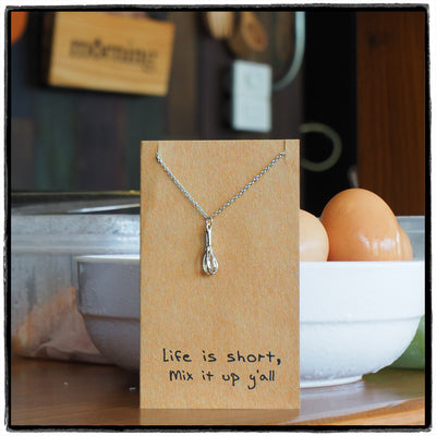 Paula Whisk Necklace Gift for Bakers,  - Quan Jewelry - 5