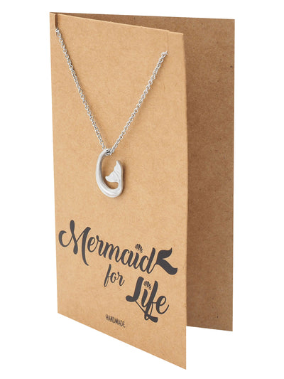 Clemence Mermaid Tail Pendant Necklace